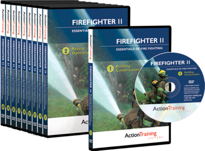 Essentials of Fire Fighting DVD Library - Firefighter II, 10 DVD Series