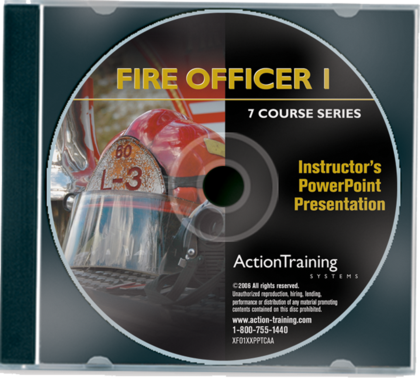 Fire Officer I DVD Series Instructor PowerPoints